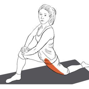 Etirement du psoas et du quadriceps